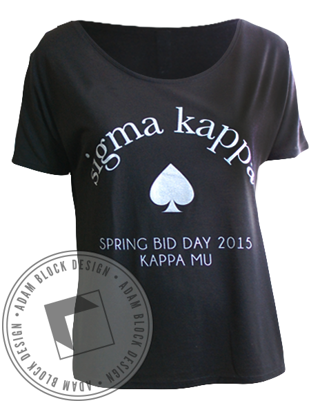 Sigma Kappa Spade Bid Day Tee-Adam Block Design