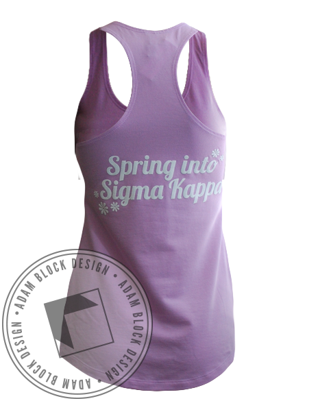Sigma Kappa Spring Bid Day Tank-Adam Block Design