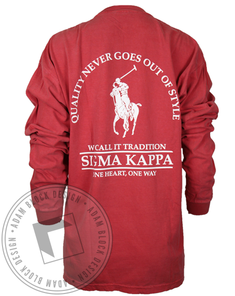 Sigma Kappa Tradition Longsleeve Shirt-Adam Block Design