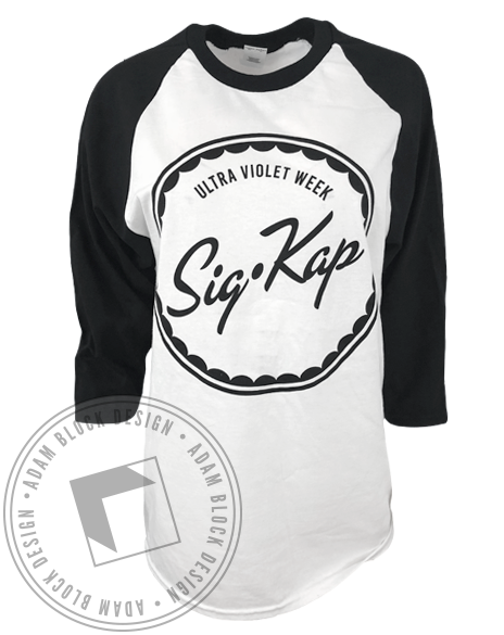 Sigma Kappa Ultra Violet Week Raglan-Adam Block Design