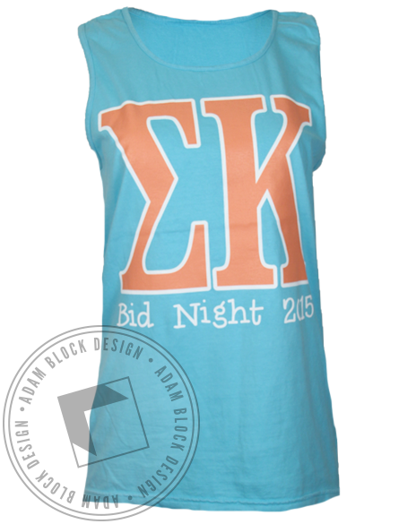 Sigma Kappa Wonderland Tank Top-Adam Block Design