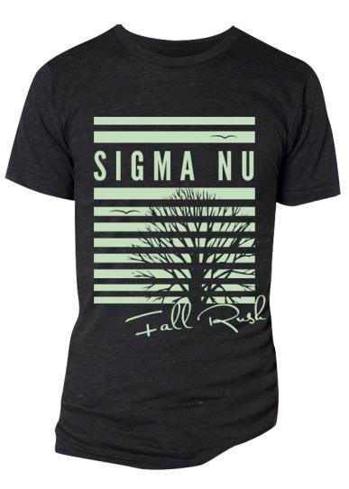Sigma Nu Fall Rush Tree Tee-Adam Block Design