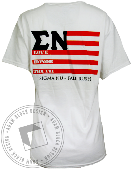 Sigma Nu Love Honor Truth Tshirt-Adam Block Design