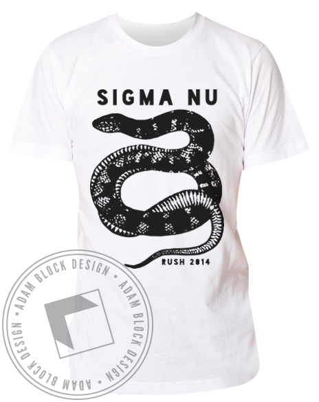 Sigma Nu Rush Snake T-Shirt-Adam Block Design