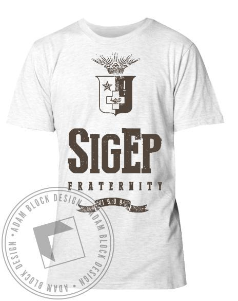 Sigma Phi Epsilon Crest Athletic Shirt-Adam Block Design