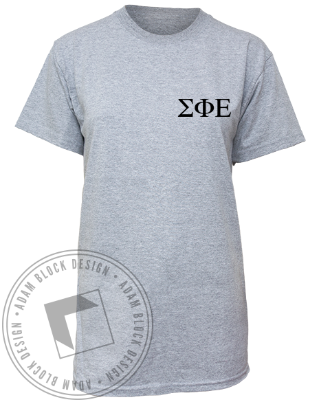 Sigma Phi Epsilon Formal Tee-Adam Block Design