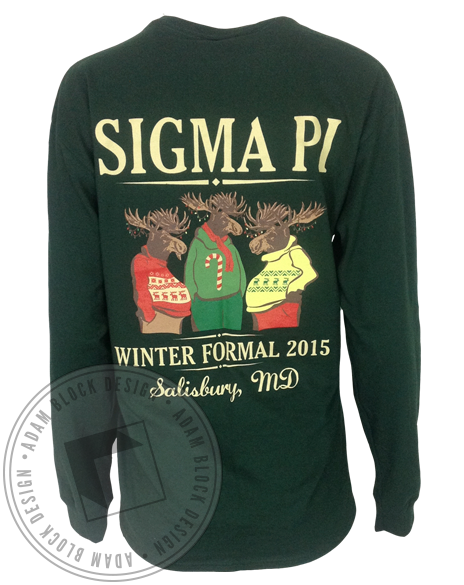 Sigma Pi Moose Winter Formal Long Sleeve-Adam Block Design