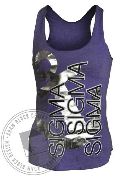 Sigma Sigma Sigma Anchor Tank-Adam Block Design