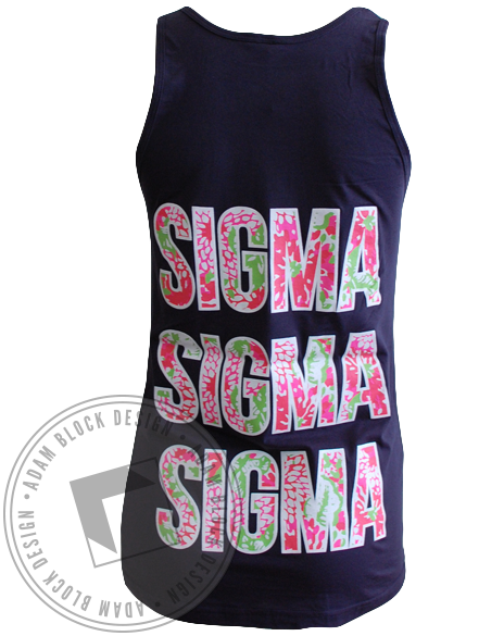 Sigma Sigma Sigma Bid Day Tank-Adam Block Design