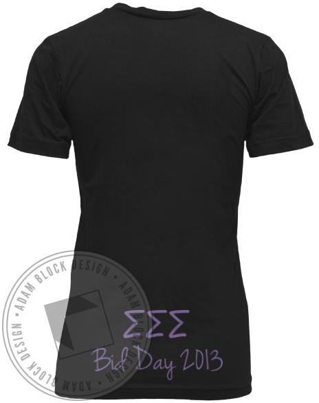 Sigma Sigma Sigma Boat Bid Day V-neck-Adam Block Design