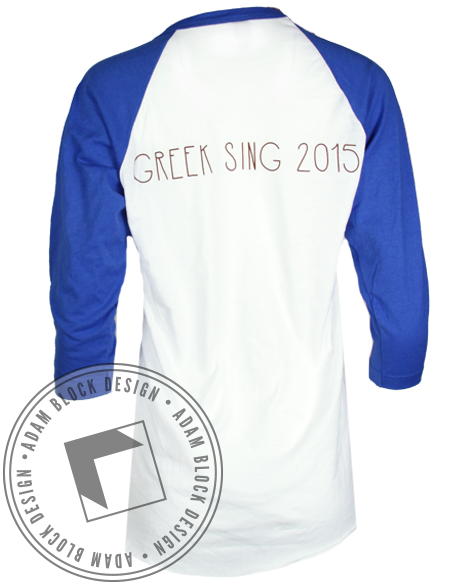 Sigma Sigma Sigma Camp Baseball Tee-Adam Block Design