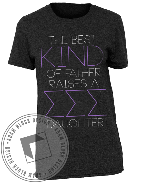 Sigma Sigma Sigma Dad's Day Tee-Adam Block Design