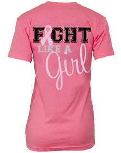Sigma Sigma Sigma Fight Like A Girl Vneck-Adam Block Design