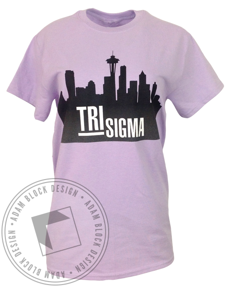 Sigma Sigma Sigma Finding Your Person Tee-Adam Block Design