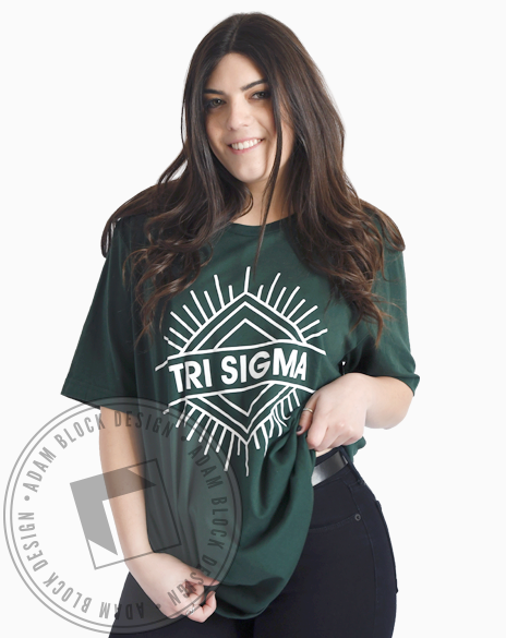 Sigma Sigma Sigma Geometric T-shirt-Adam Block Design