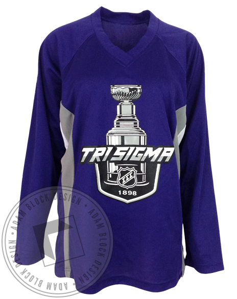 Sigma Sigma Sigma Hockey Jersey-Adam Block Design