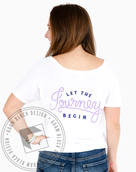 Sigma Sigma Sigma Let The Journey Begin Tee-Adam Block Design