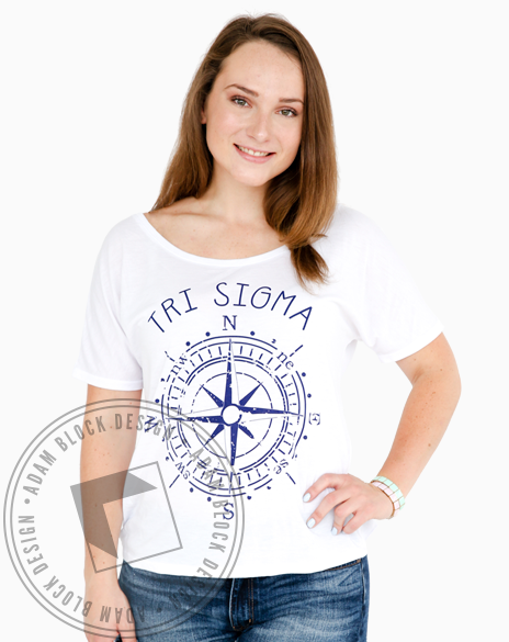 Sigma Sigma Sigma Let The Journey Begin Tee-gallery-Adam Block Design
