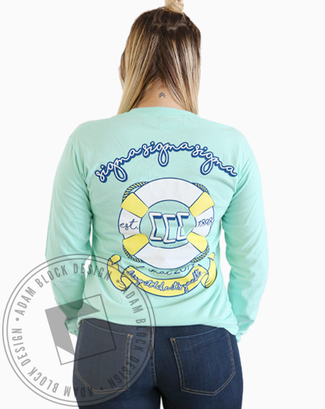 Sigma Sigma Sigma Nautical Formal Longsleeve-gallery-Adam Block Design