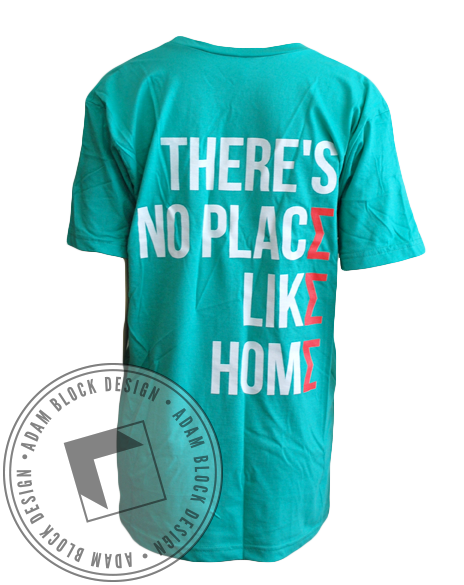 Sigma Sigma Sigma No Place Like Home Vneck-Adam Block Design