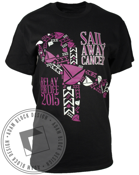 Sigma Sigma Sigma Relay For Life Tee-Adam Block Design