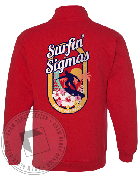 Sigma Sigma Sigma Surfin' Sweatshirt-Adam Block Design