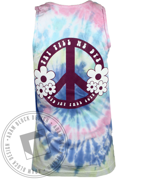 Sigma Sigma Sigma Till We Dye Tank Top-Adam Block Design