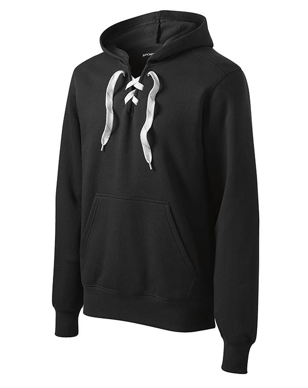 Sport-Tek Lace Up Pullover Hooded Sweatshirt-blank-Adam Block Design