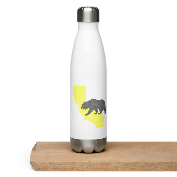 California Bear Golden State Stainless Steel Water Bottle - Title: Default Title - Adam Block Design