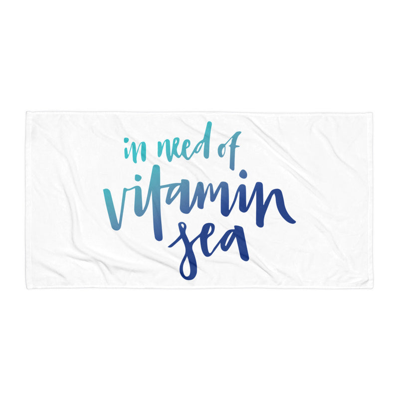 Vitamin Sea Towel - Title: Default Title - Adam Block Design