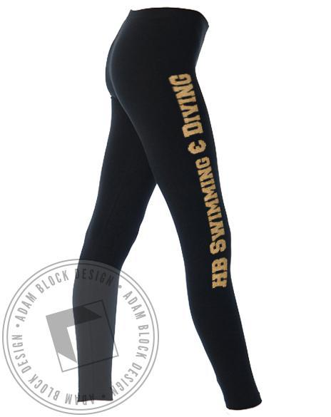 Swim & Dive Team Leggings-Adam Block Design