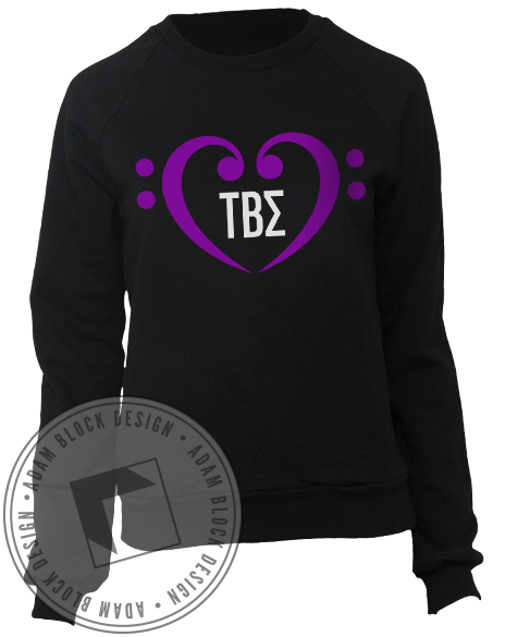 Tau Beta Sigma Heart Sweatshirt-Adam Block Design