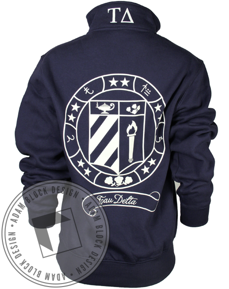 Tau Delta Seal Pullover-Adam Block Design