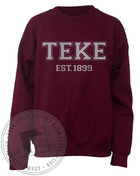 Tau Kappa Epsilon 1899 Sweatshirt-gallery-Adam Block Design