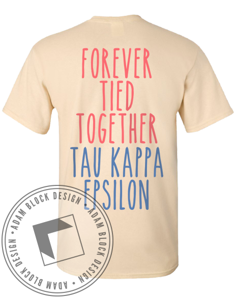 Tau Kappa Epsilon Tied Together Tee-gallery-Adam Block Design