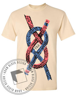 Tau Kappa Epsilon Tied Together Tee-Adam Block Design