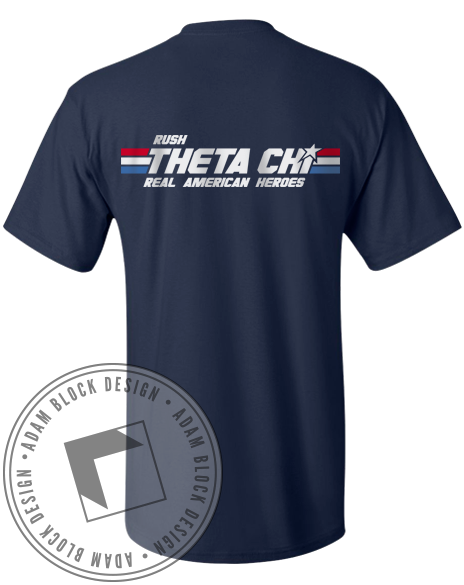 Theta Chi American Pocket Tee-gallery-Adam Block Design
