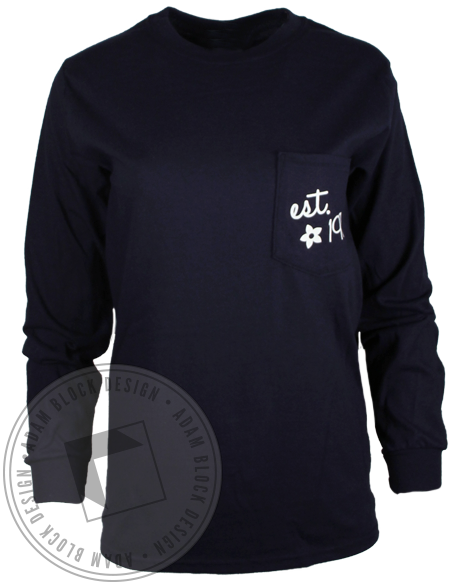 Theta Nu Ohio Longsleeve Shirt-gallery-Adam Block Design