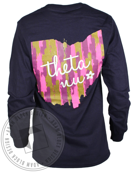 Theta Nu Ohio Longsleeve Shirt-Adam Block Design