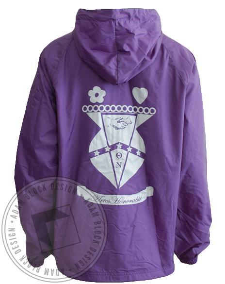 Theta Nu Windbreaker Half Zip Jacket-gallery-Adam Block Design
