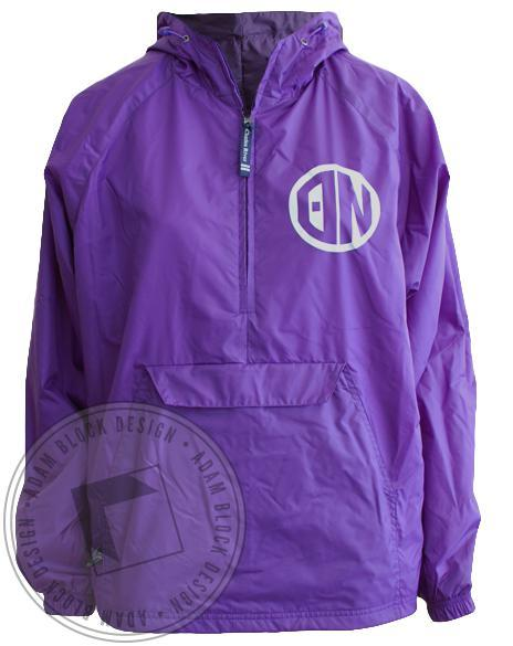 Theta Nu Windbreaker Half Zip Jacket-Adam Block Design
