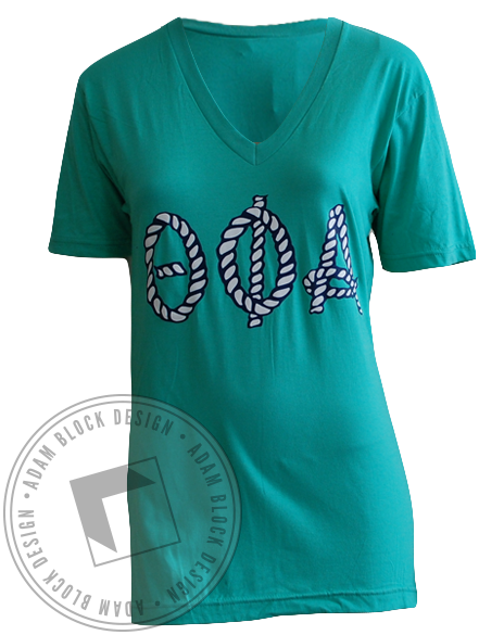 Theta Phi Alpha Anchor V-Neck-gallery-Adam Block Design