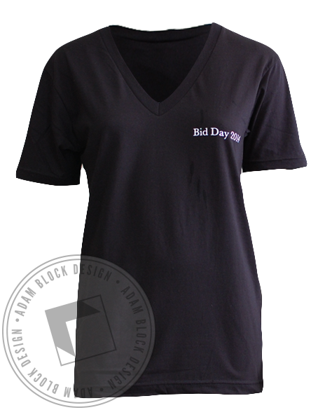 Theta Phi Alpha Bid Day V-Neck-gallery-Adam Block Design