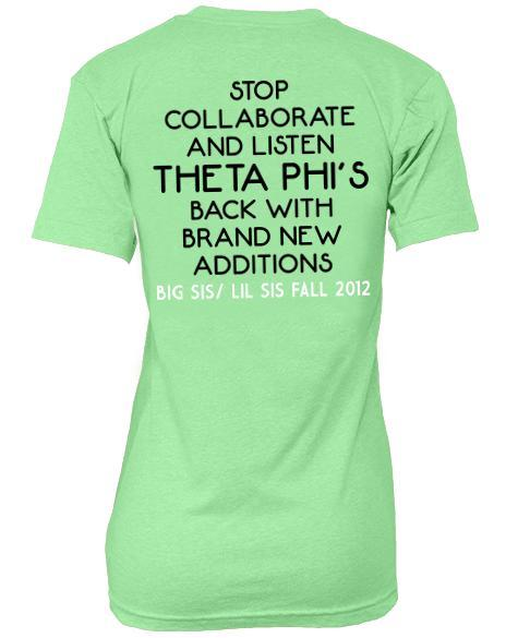 Theta Phi Alpha Big/Little V-Neck-Adam Block Design