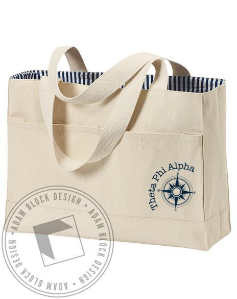 Theta Phi Alpha Compass Tote-gallery-Adam Block Design