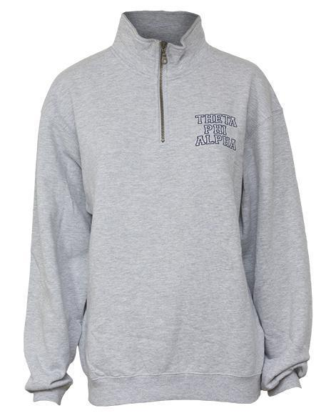 Theta Phi Alpha Crest Half Zip Sweatshirt-gallery-Adam Block Design