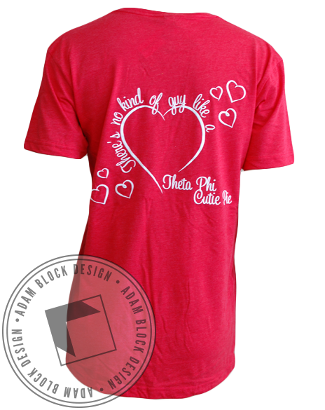 Theta Phi Alpha Cutie Pie Vneck-Adam Block Design