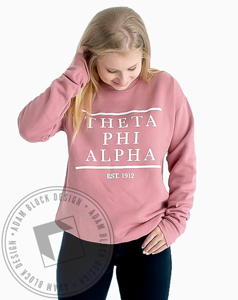 Theta Phi Alpha Established 1912 Sweatshirt-gallery-Adam Block Design