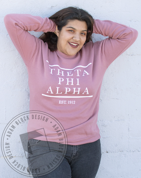 Theta Phi Alpha Established 1912 Sweatshirt-Adam Block Design