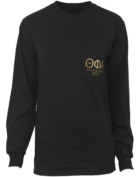 Theta Phi Alpha Formal Long Sleeve Pocket Tee-gallery-Adam Block Design